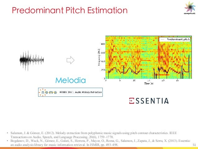 B P[YU M BU OT 7_ UYM U[ DY_bX]U • Salamon, J. & Gómez, E. (2012). Melody extraction from polyphonic music signals using p...