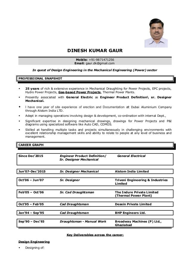 DINESH GAUR RESUME CAD DESIGNER MECHANICAL1