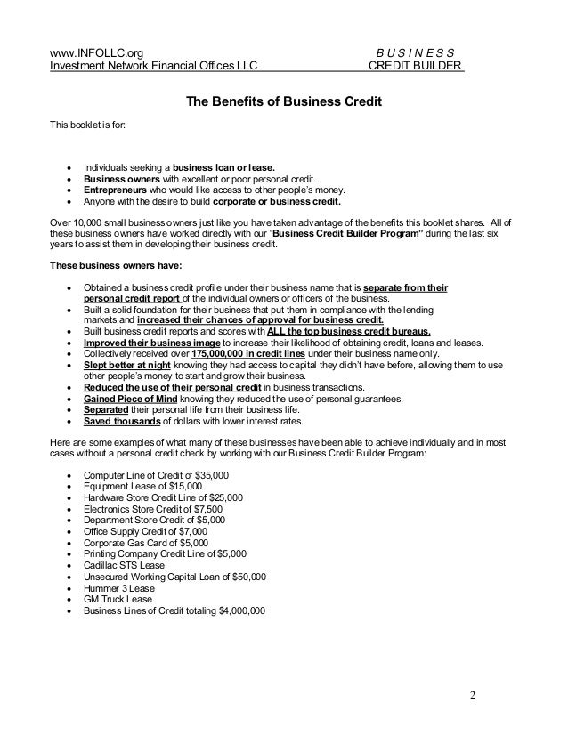Business credit builder program v 1 1 business credit builder program 2 reheart