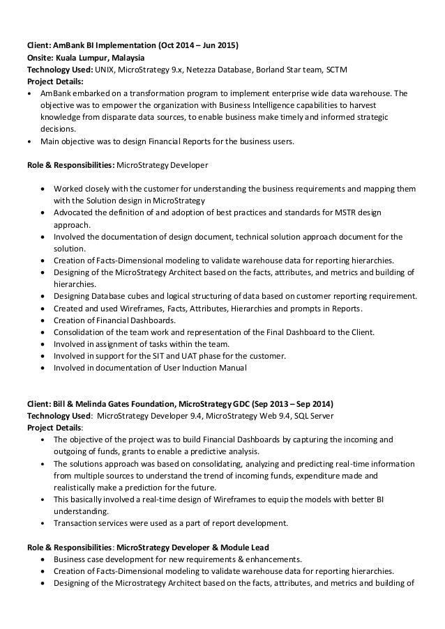 Microstrategy Resume - Talktomartyb