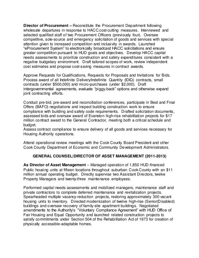 procurement director 2013 2015 3 general counsel resume