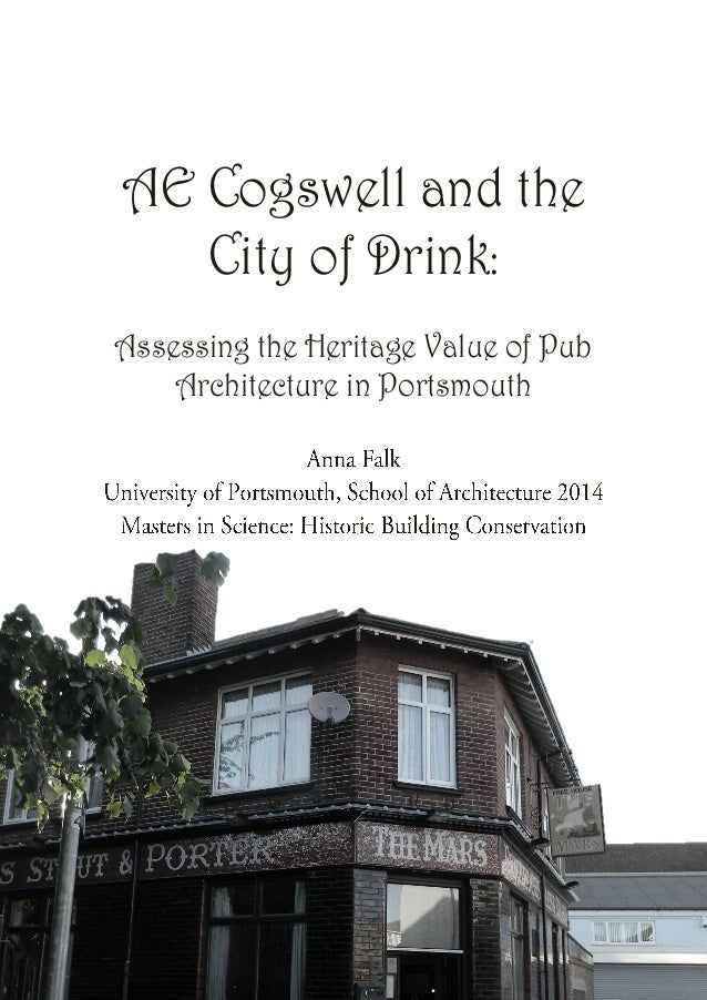 AE Cogswell and the City of Drink: Assessing the Heritage Value of Pub Architecture in Portsmouth