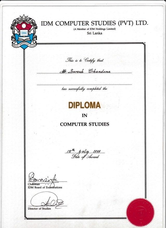 Diploma In Computer Studies-IDM.