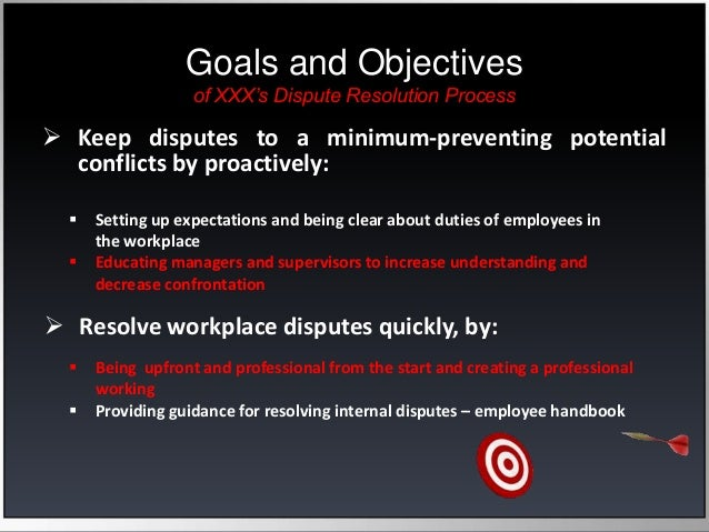 conflict resolution case studies We examine employers' changing methods of managing conflict, and how far recent changes in legislation on dispute resolution have impacted employer practices.