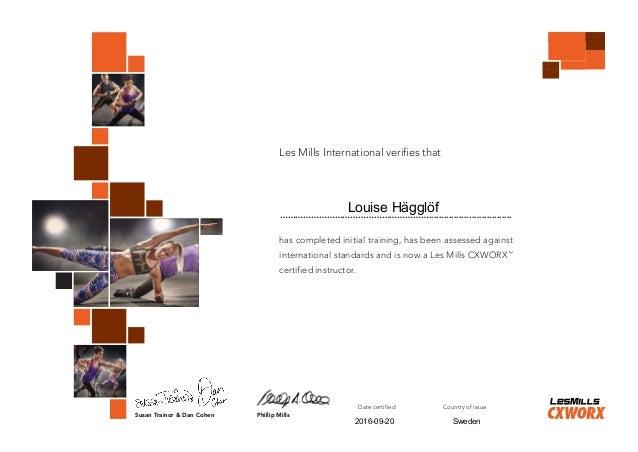 Certification LES MILLS