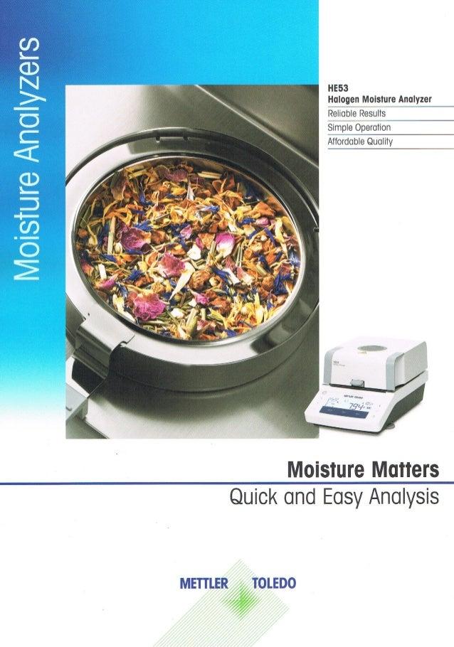 Mettler - Moisture Analyzer HE53