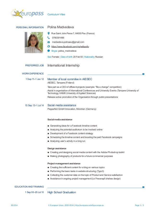 curriculum vitae europass suomi