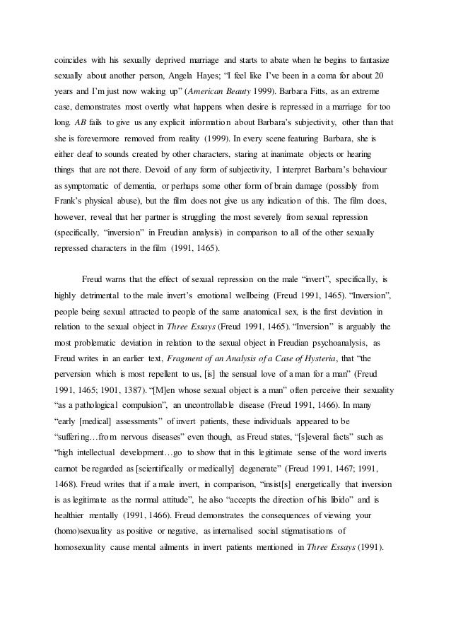 american beauty essays lester American beauty: lester burnham and colonel frank fitts amanda dunman ventura college psy v15 – drpatricia fox-west may 4, 2005 2 ameri.