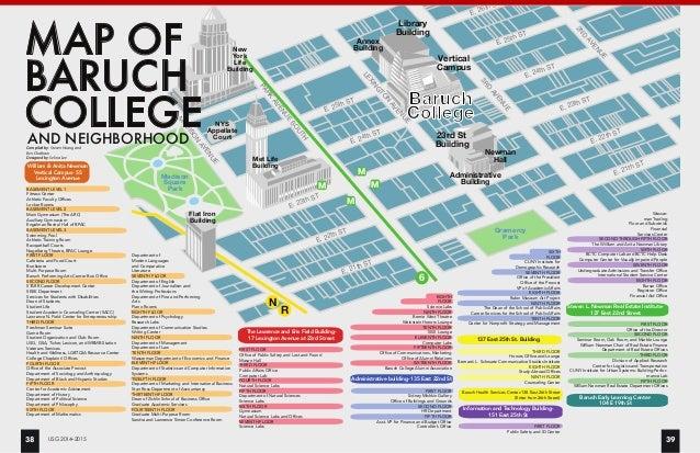 baruch college campus map Undergrad Survival Guide Vol 3 2014 2015 Spreads 1 baruch college campus map