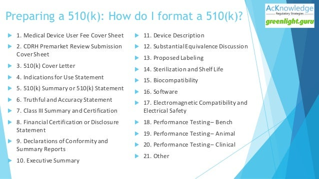 Fda 510 k submission tips best practices for 510k template