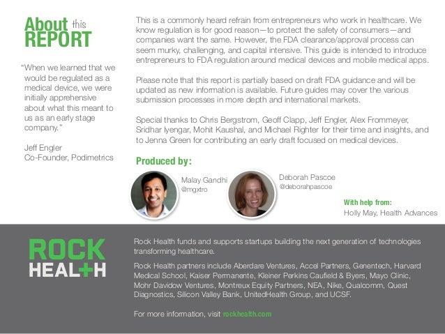 FDA 101: A guide to the FDA for digital health entrepreneurs by @Rock_Health Slide 2
