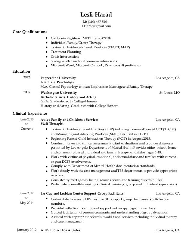 simple resume without address