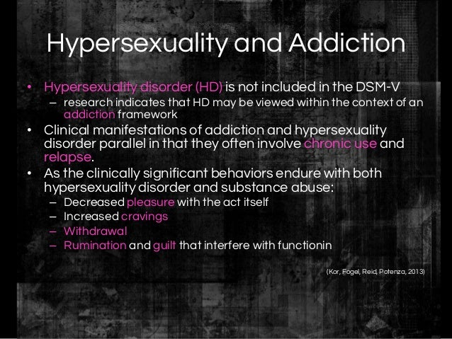 Hypersexual disorder treatment