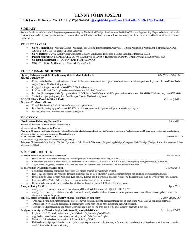 Resume(Tenny John Joseph)