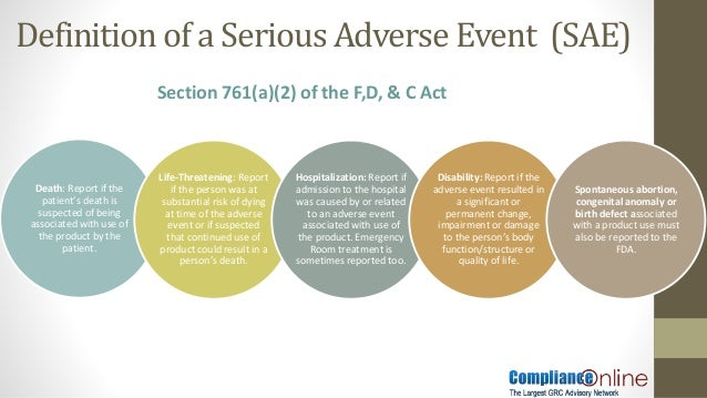 Fda adverse event reporting requirements for otc drugs