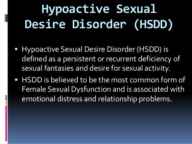 Hypo sexual dysfunction disorder
