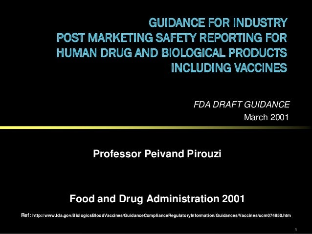 FDA DRAFT GUIDANCE                                                                                     March 2001         ...