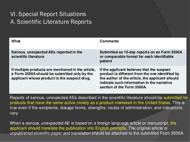 Fda guidance for pharmaceutical post marketing reporting professor …