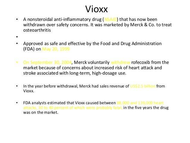 case analysis on merck the fda and the vioxx recall 24/7 wall st - insightful analysis and commentary for us and global equity  investors  the ten worst drug recalls in the history of the fda  $14 billion,  making it one of the most costly products liability cases in history  merck settled  vioxx litigation in the us for $48 billion, with close to $1 billion in.