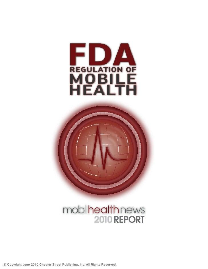 FDA                                           REGULATION OF                                          MOBILE               ...