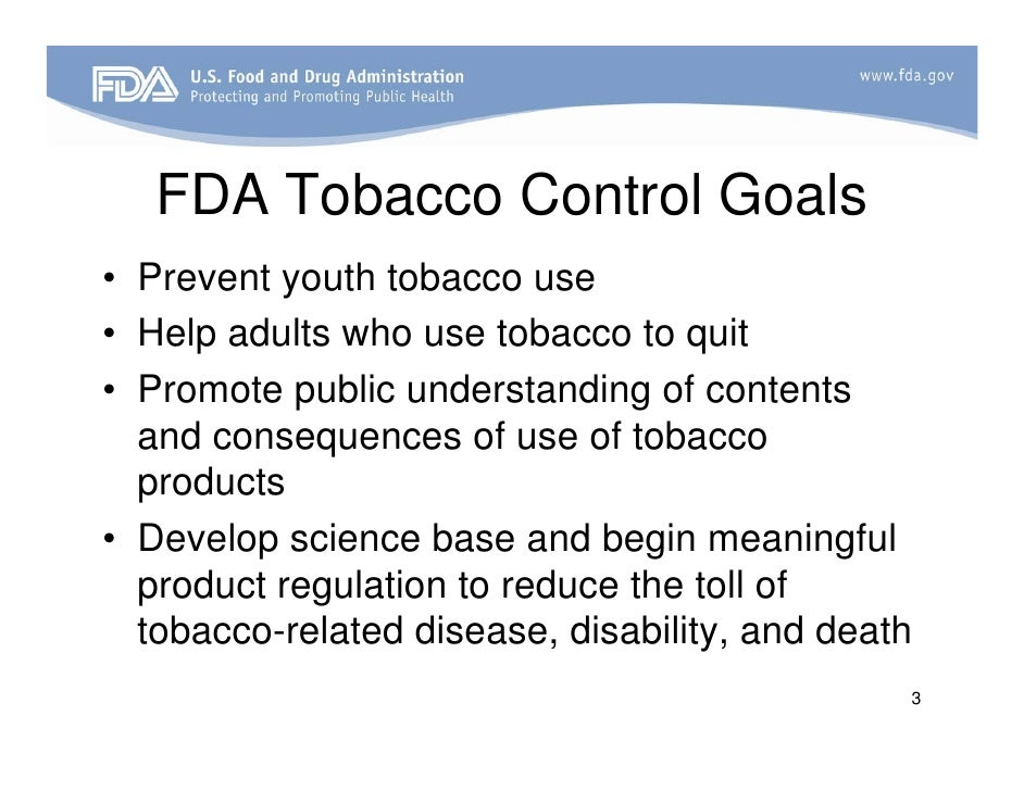 the fda and tobacco regulation By deeming e-cigs to be the equivalent of tobacco cigarettes, the fda gives big tobacco just what it wanted -- and turns its back on public health.