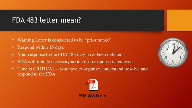FDA warning letter-Quick Review-India