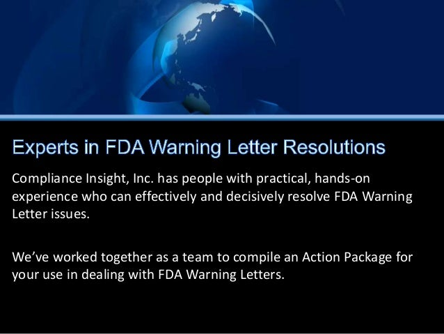 fda warning letters fda warning letter package 1218