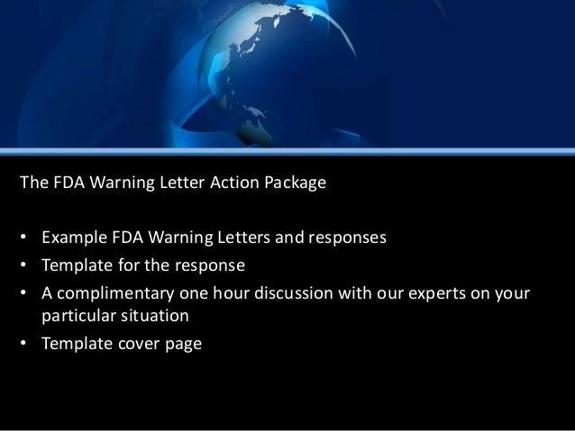 FDA warning letter action package