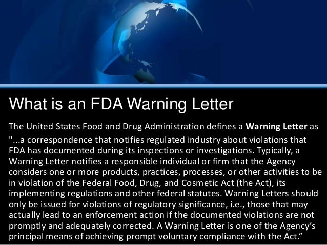 fda warning letters fda warning letter 1218