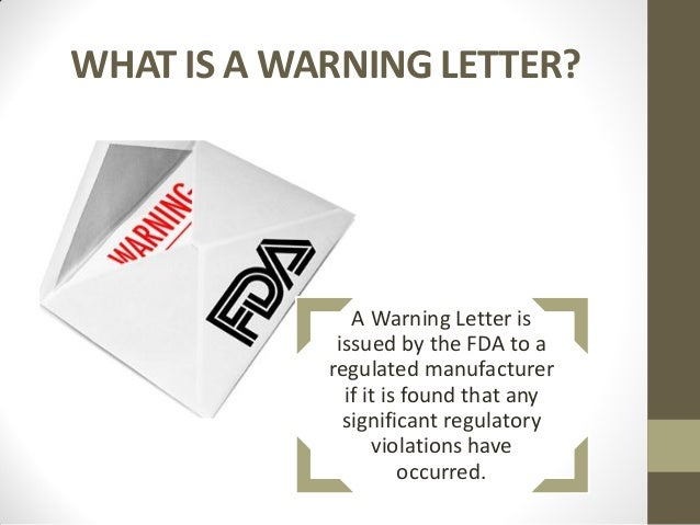 anticipating fda warning letters 2