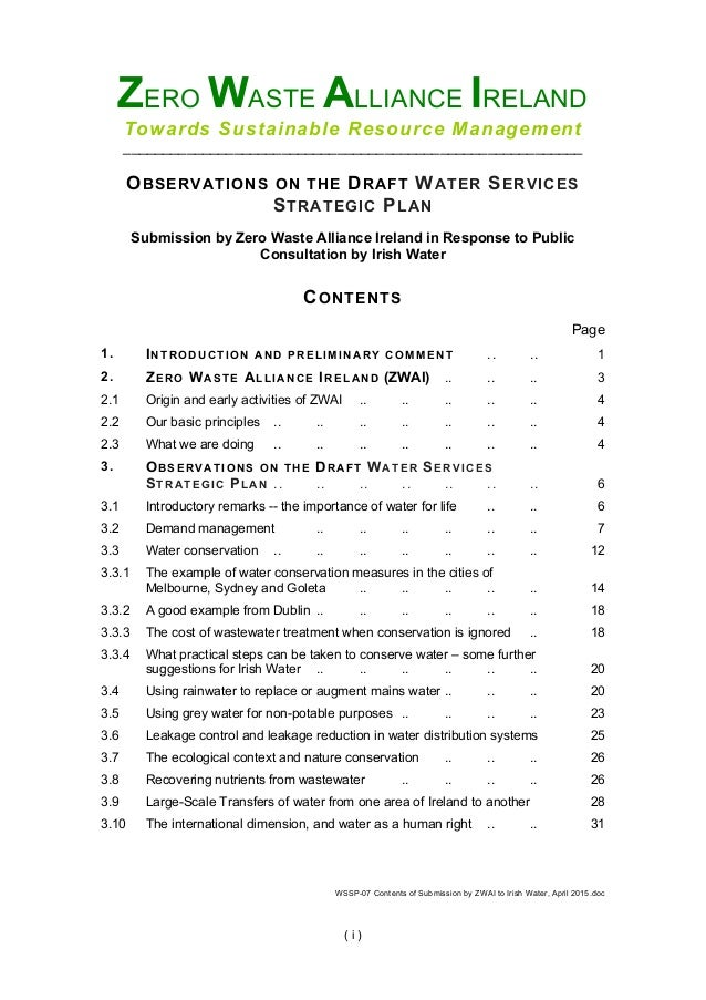 WSSP-08 Complete Submission by ZWAI to Irish Water, April 2015