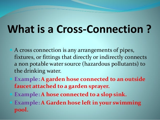 Cross Connection Power Point 3