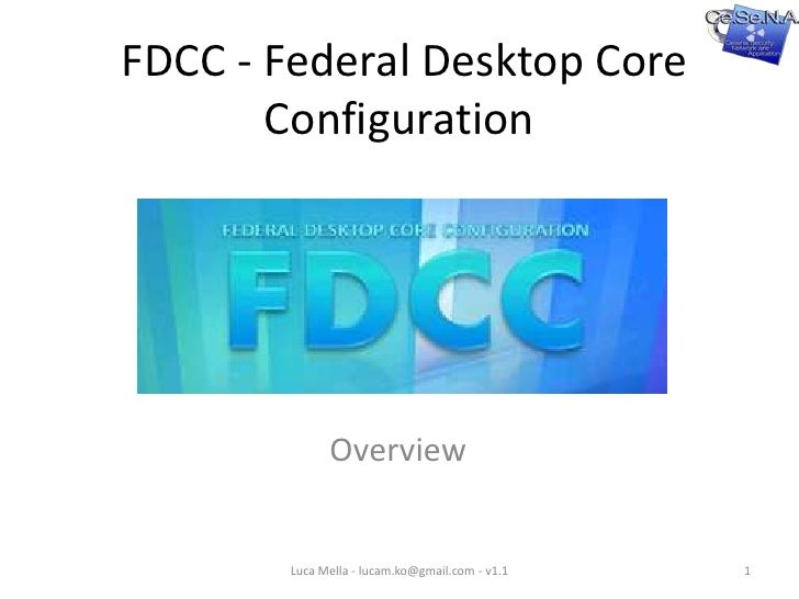 FDCC - SCAP - Overview