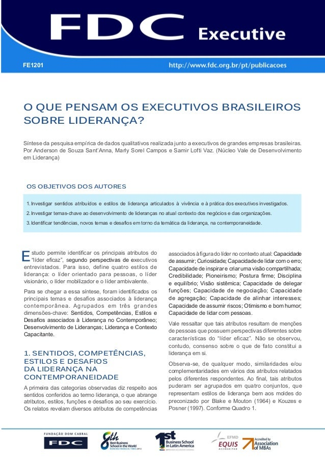 Gestão Estratégica do Suprimento e o Impacto no Desempenho das Empresas Brasileiras O que pensam os executivos brasileiros...