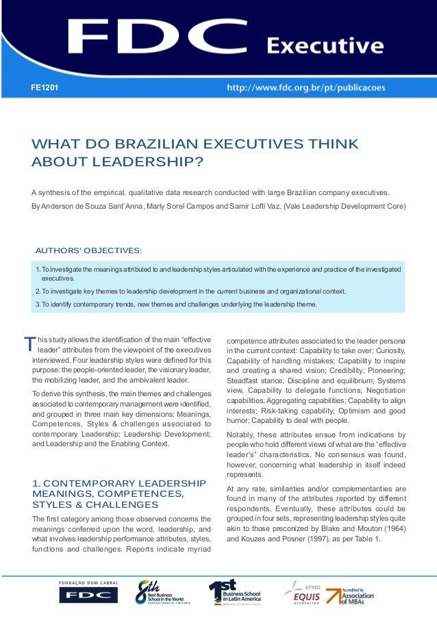 GESTÃO ESTRATÉGICA DO SUPRIMENTO E O IMPACTO NO DESEMPENHO DAS EMPRESAS BRASILEIRAS WHAT DO BRAZILIAN EXECUTIVES THINK ABO...