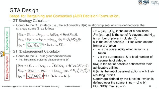 Stage 1b: Bargaining and Consensus (ABR Decision Formulation) 22 GTA Design • GT Strategy Calculator – Compute the GT stra...