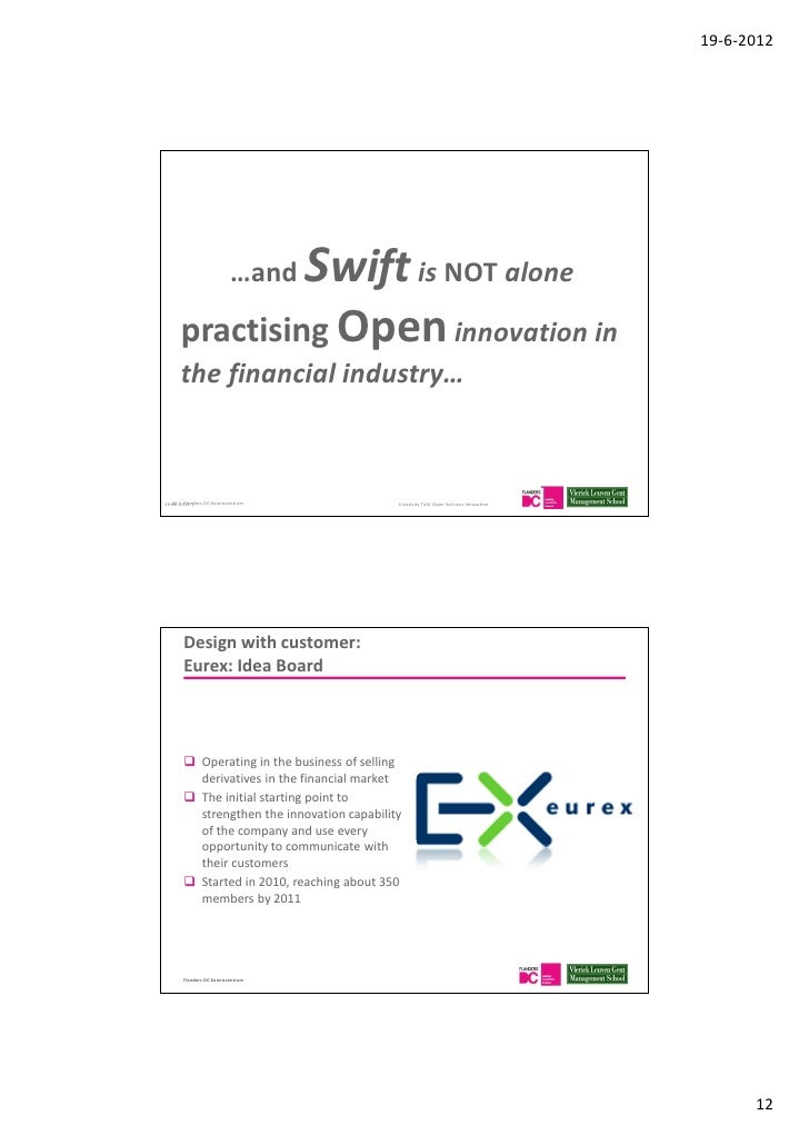 bringing open innovation to services Open innovation is the use of purposive inflows and outflows of knowledge to accelerate internal innovation, and expand the markets for external use of innovation, respectively.