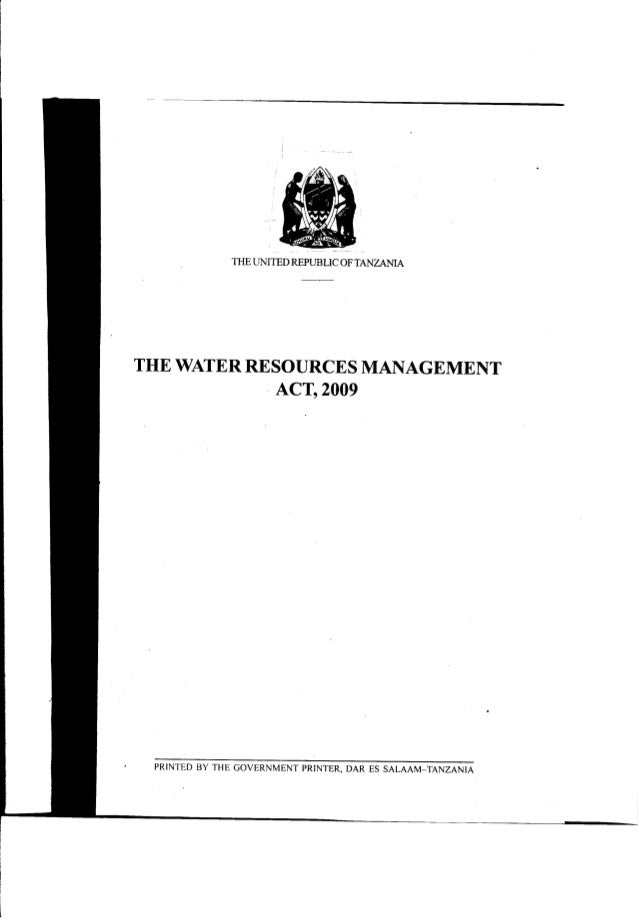 the_water_resources_management_act