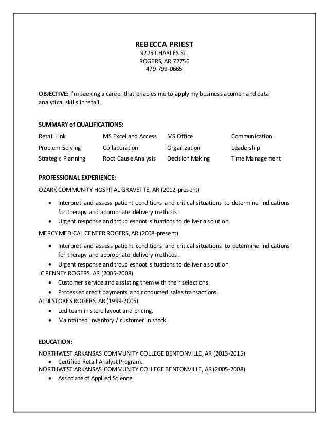 Priest resume