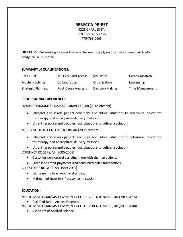 priest resume