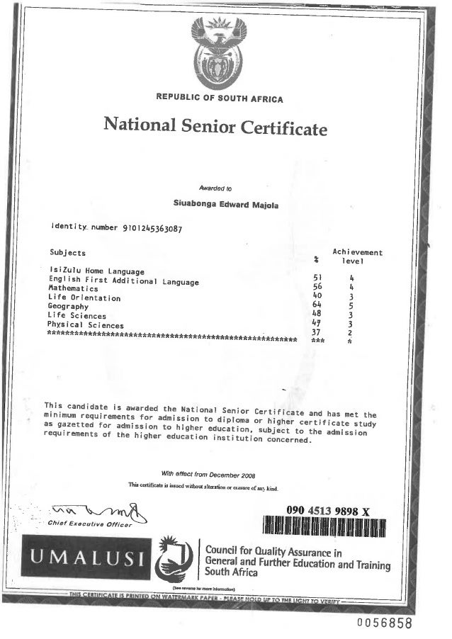 SE MAJOLA SUPPORTING DOCUMENTS