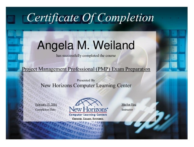 Project Management Professional Training Certificate
