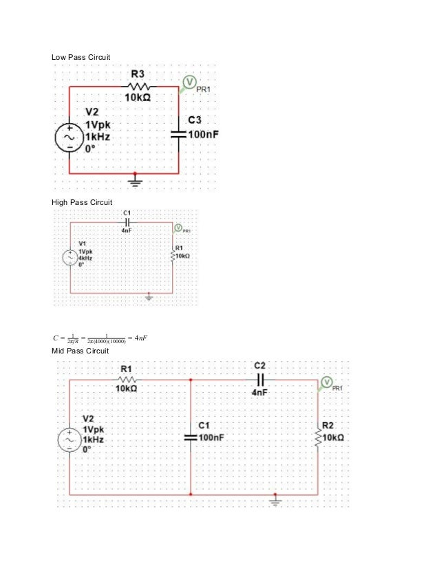 Circuit Theory Audio Filter