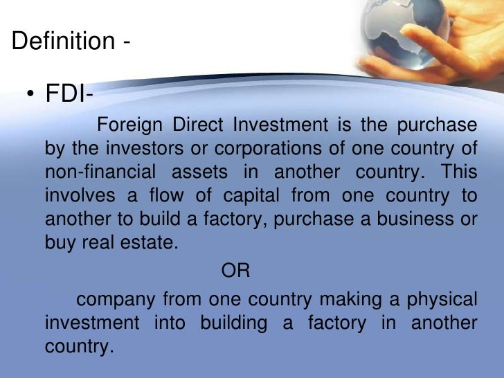 Foreign direct investment definition and example of imagery pension fund investment regulations