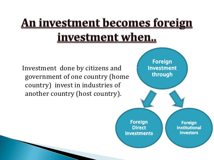 What is foreign direct investment fdi