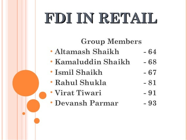 Fdi in retail is a boon