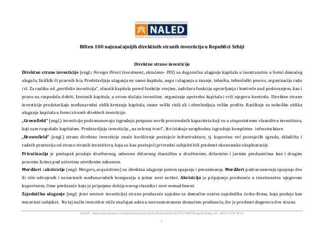 NALED - Nacionalna alijansa za lokalni ekonomski razvoj, Makedonska 30/VII, 11000 Beograd, Srbija, tel: +381 11 337 30 63 ...