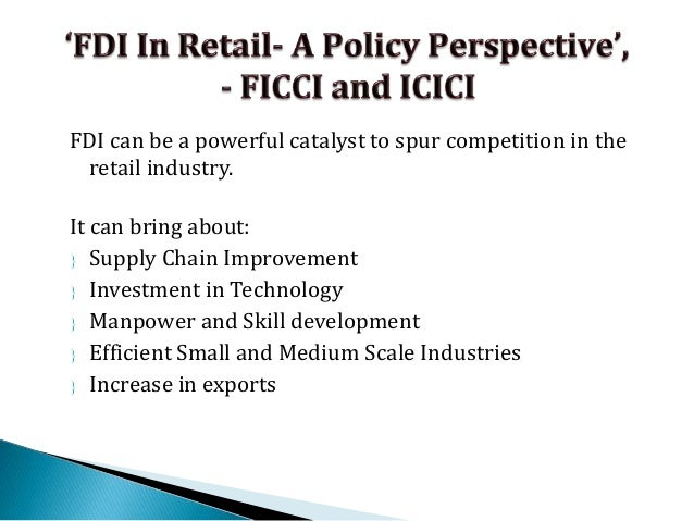 WAT Topic for MBA: FDI in multi brand retail is a boon or bane
