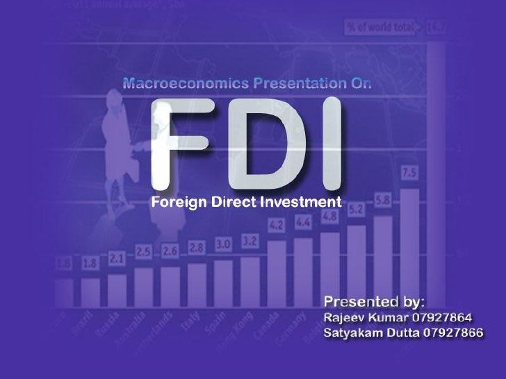 Foreign Direct Investment (FDI)  Purchase of physical assets or a significant amount of ownership (stock) of a company in ...
