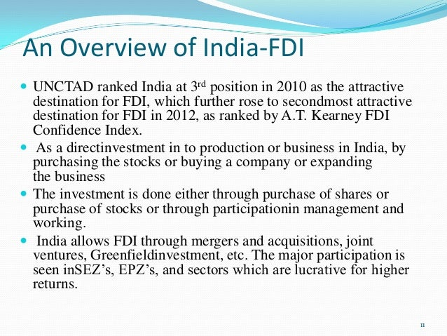 fdi in india rbi regulations Consolidated fdi policy circular of 2017  38 foreign investment into/ downstream investment by eligible indian entities 17  'rbi'  means the reserve bank of india established under the reserve bank of.